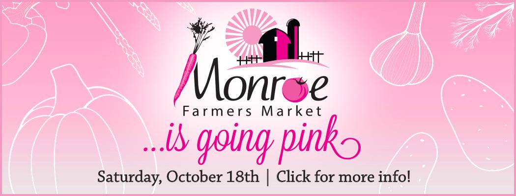 Monroe Farmers Market goes pink