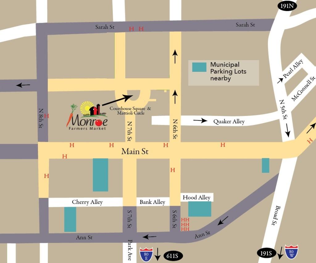 where is the Monroe Farmers Market